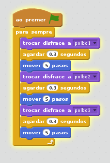 código simular movemento