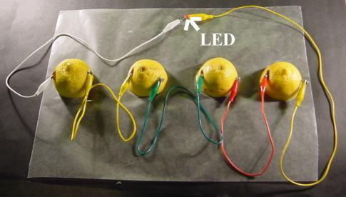 pilas-limón en serie