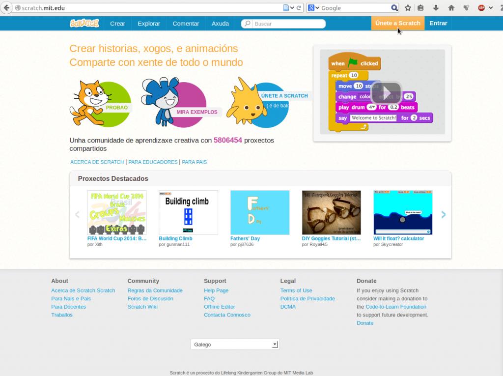 Páxina de Scratch