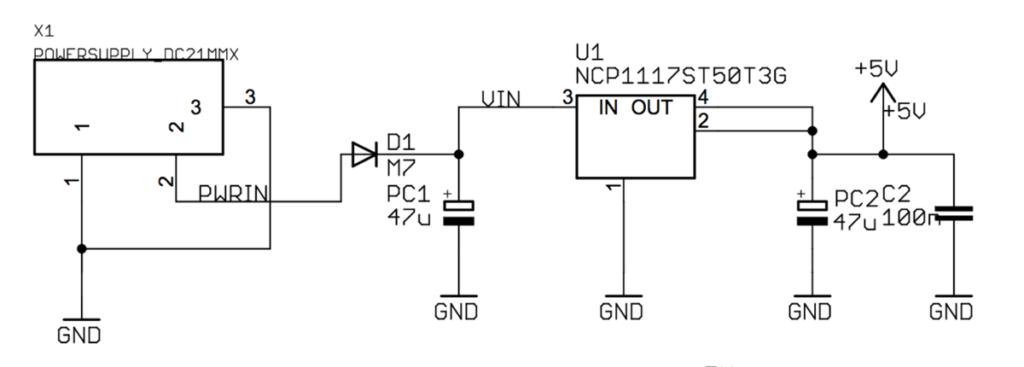 esquema eléctrico alimentación Arduino